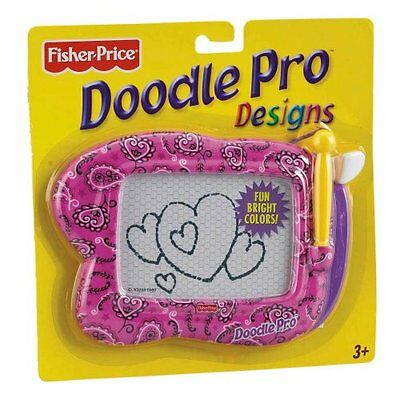 Fisher Price Doodle Pro Design Magnetic Drawing Screen Portable - Pink Paisley