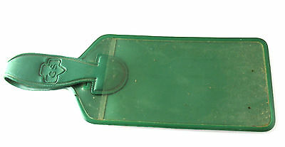 VINYL LUGGAGE TAG, Girl Scout Week Free-Birthday-Gift 1960 RARE Combine EUC