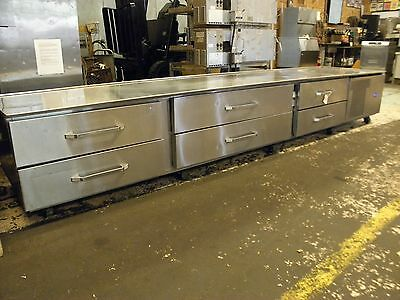 """Randell 20105Sc Six Drawer 146"""" Low Profile Refrigerated Equipment Stand Castors"""