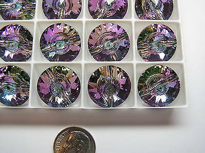 24 Pcs Swarovski Buttons/beads  #3015 18Mm Crystal Vitrail Light - Factory Pack