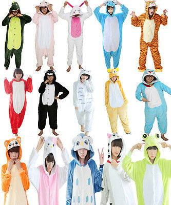 Adult Winter One Piece Pajama Kigurumi Halloween Party Onesie Cosplay Costume