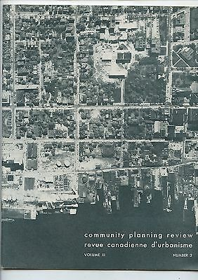 Old 1961 Canada Community Planning Review Magazine