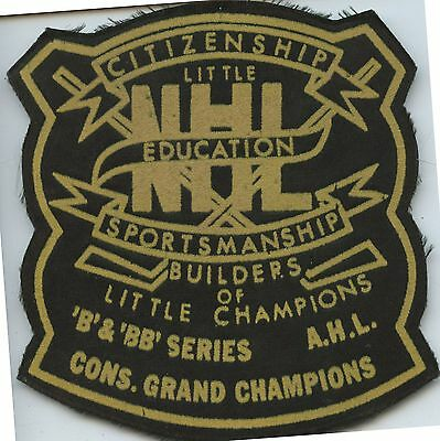 Old Vintage Hockey NHL AHL Little Champions Cloth Patch