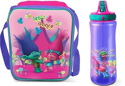 Official Trolls Insulated Lunch Bag Or Bottle Or Set School Kids Girls Boys Xmas