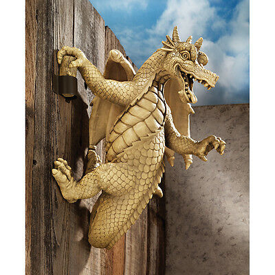 Gothic Snarling Dragon Wall Sculpture Medieval