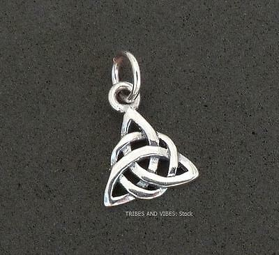 TRIQUETRA Charm Celtic Trinity Knot Sterling Silver Jewellery pagan wicca witch