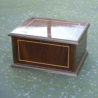 VINTAGE 4 TRAY WOODEN COIN CABINET - Miniature Furniture : READ FULL DESCRIPTION