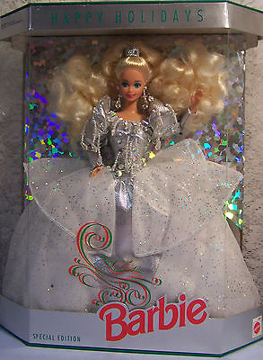 1992   HAPPY HOLIDAYS SPECIAL ED. Silver   BARBIE  NRFB