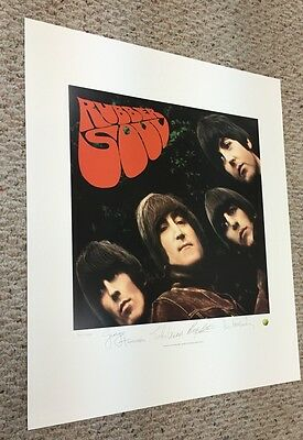 The Beatles Rubber Soul Plate Signed Litho Lithograph Poster LE Numbered