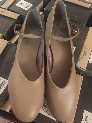 "LEO'S 321 DANCEWEAR child WOMEN'S TAN CHARACTER 1.5"" HEEL SHOES Size 4-12 Dance"