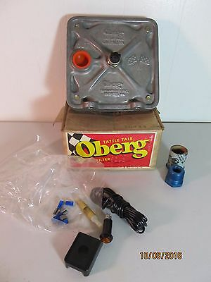 VINTAGE NEW OLD STOCK OBERG TATTLE TALE Oil Filter RAT ROD HOT ROD RACING IN BOX