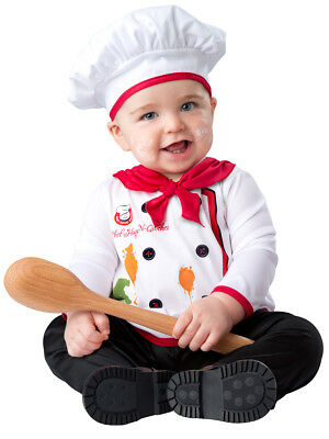 Hugs & Quiches Chef Cook Baby Infant Toddler Child Costume NEW
