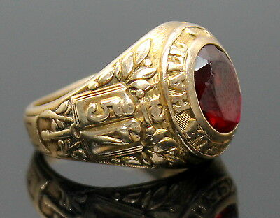 Belfour 1957 Saint Angela Hall Academy Solid 10K Yellow Gold Class Ring Size 6.5