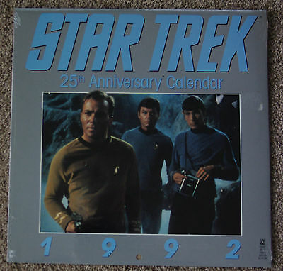 Calendar Star Trek 25th Aniversary 1992 NEW Sealed unopened