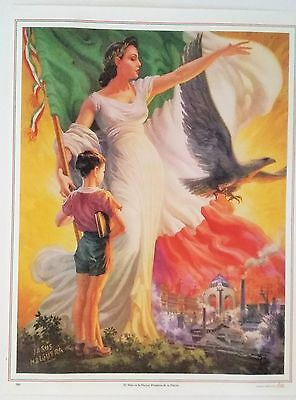 Traditional Mexican Calendar Art Jesus Helguera madre Patria