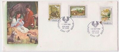Stamps Australia 1982 set of 3 Christmas issue on Bergen limited edition FDC