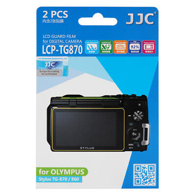 2x Film LCD Screen Display H3 Hard Protection for Olympus Stylus TG-870 860