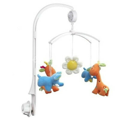 New Funny Baby Crib Mobile Bed Bell Toy Holder Arm Bracket+Wind-up Music Box MI