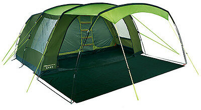 6 Man Tent 1 Bedroom with Divider Sewn In Groundsheet 6 Person Camping Tent