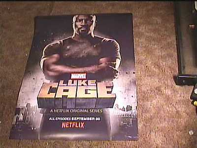 Luke Cage  Hero For Hire Rolled Ss 27X40 Orig Promo Poster Marvel Netflix