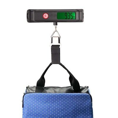 50kg/10g portable electronic luggage hanging weight scale digital LCD belt new