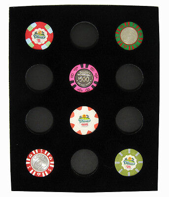 Chip Insert 12 Casino Chips Display Board  8 x 10 HOLDS 12 CHIPS NEW Free Ship *