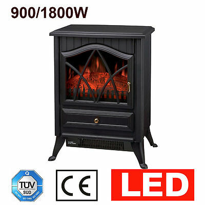 1.8KW Electric Fireplace Heater New Portable Wood Burning Flame Fire Place Stove