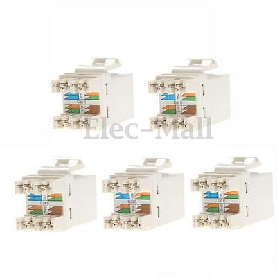 5x Cat 6 RJ45 8P8C Punchdown Keystone Modular Ethernet Snap-in Jack Network New