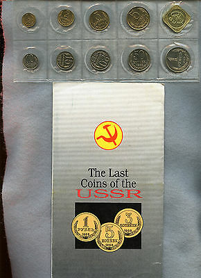 Russia ~ 1989 ~ 9 Coin Mint Set ~ With Folder