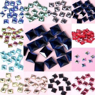 Stones Crystals Glass 100 pcs FlatBack Beads Rhinestones Sew Decoration