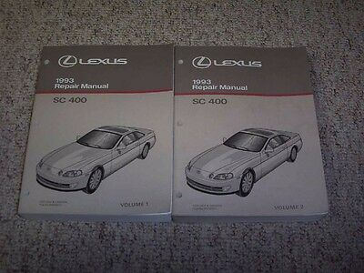 1993 Lexus SC400 SC 400 Factory Workshop Shop Service Repair Manual Set Vol 1-2