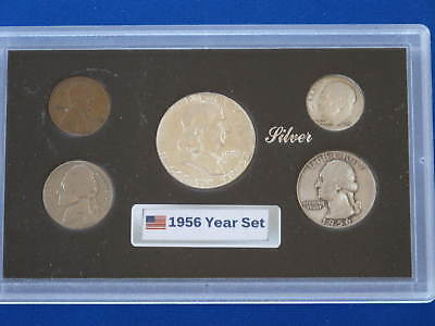 1956 United States Five Coin Silver Year Set