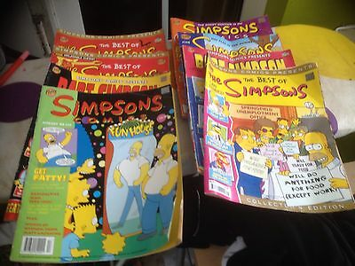 THE SIMPSONS - SELECTION Of 8 COMICS