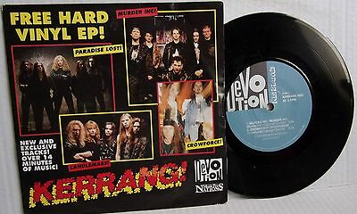 Kerrang 4 Track Ep Paradise Lost,candlemass,murder Inc,crowforce 1992 Pic Sleeve