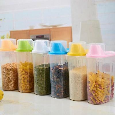 1.9L Plastic Kitchen Food Cereal Grain Bean Rice Storage Container Box v7
