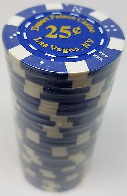 $50,000 You CHOOSE* 1000 Clay 11.5gr Desert Palace Poker ChipsSet With Case 5¢