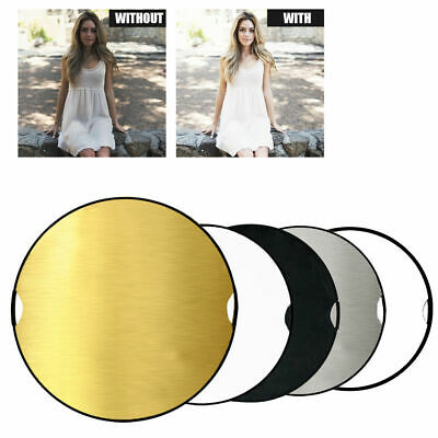 "43"" 110cm Photography Studio 5 in 1 Multi Photo Disc Collapsible Light Reflector"