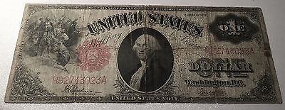 1917 Us Note Red Seal  $1   ~3023A  Fine/very Fine