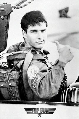 TOP GUN ~ COCKPIT 24x36 MOVIE POSTER Tom Cruise NAVY NEW/ROLLED!