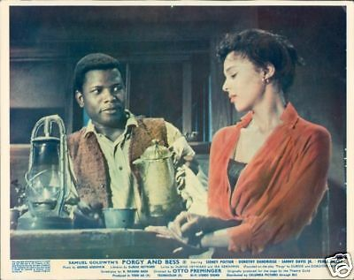 Dorothy Dandridge Sidney Poitier Porgy And Bess Lobby