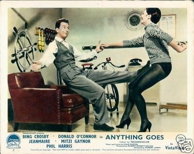 Jeanmaire Donald O'connor Anything Goes 1956 Lobby Card