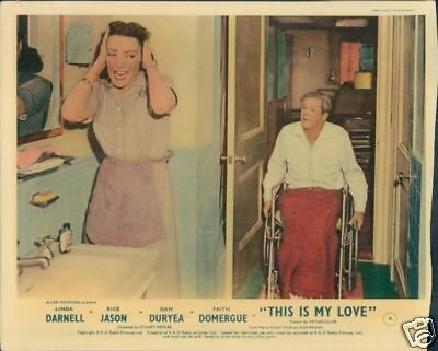 Linda Darnell This Is My Love 1954 Lobby Card