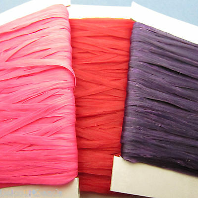 2 Each of Pink Purple and Red 180' Sinew 70lb Test Dream Catchers Leather