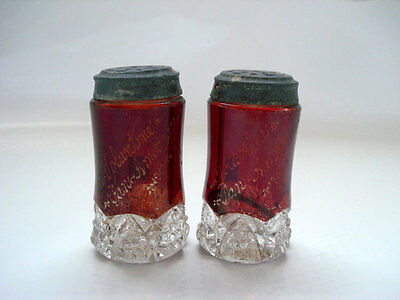 Buffalo 1901 Pan American Expo Salt & Pepper ~ Ruby Flash ~ Voluntine