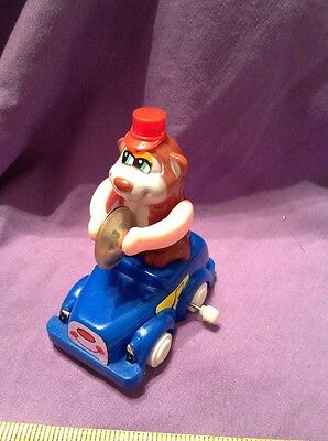 Vintage Wind Up Monkey In Car Playing  Cymbals Hong Kong