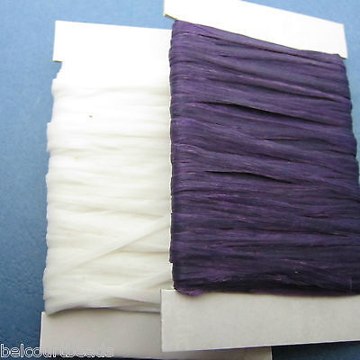Purple and White 120' Sinew 70lb Test Dream Catchers Leather Bead Crafts