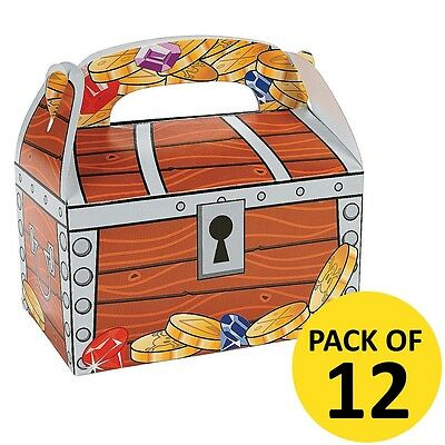 Pirate Party Supplies Treasure Chest Box Pack 12 Treat Lolly Cake Favour Boxes