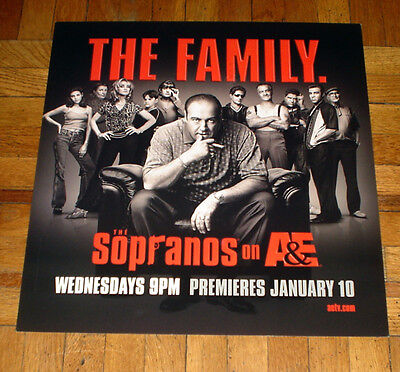 THE SOPRANOS the family CAST SUBWAY POSTER