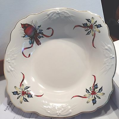 Lenox winter greetings carved low red cardinal bowl new in box lenox winter greetings carved low red cardinal bowl new in box m4hsunfo