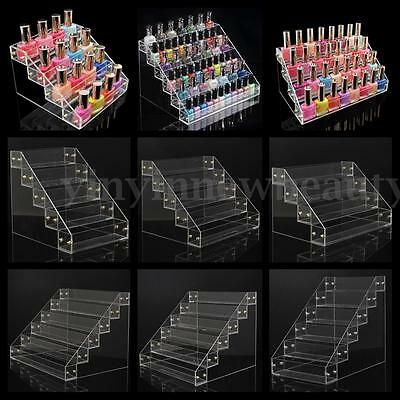 Nail Polish Acrylic Clear Makeup Display Stand Rack Organizer Holder 9 Style Hot